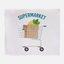 Supermarket Throw Blanket