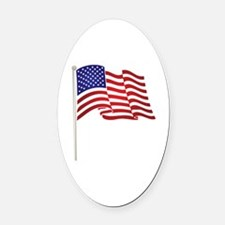 Unique British and american flag Oval Car Magnet