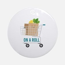 On A Roll Round Ornament
