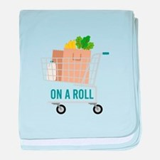 On A Roll baby blanket