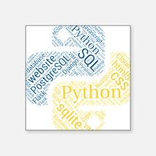 "Cute Programmers Square Sticker 3"" x 3"""