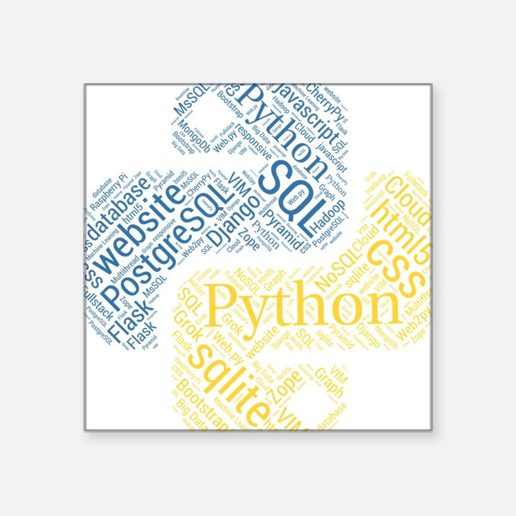 """Cute Programming Square Sticker 3"""" x 3"""""""