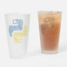 Cute Python Drinking Glass
