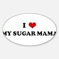 Unique Sugar mama Sticker (Oval)