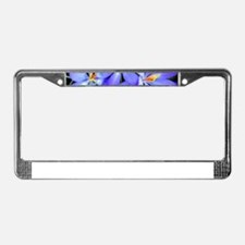 Blue Wildflower License Plate Frame