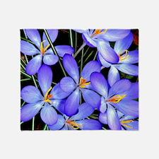 Blue Wildflower Throw Blanket
