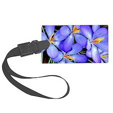 Blue Wildflower Luggage Tag