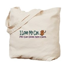 I Love My Cat... Tote Bag