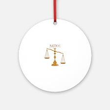 Justice Round Ornament