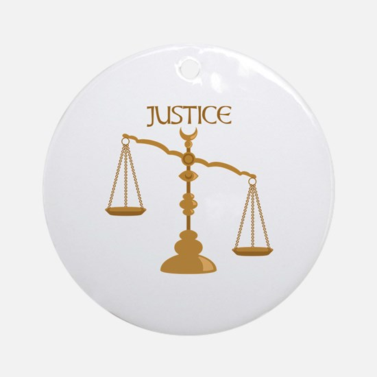 Justice Round Ornament