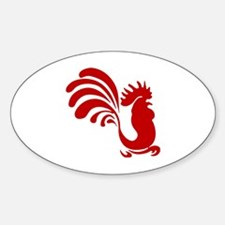 Cute Birds rooster Decal