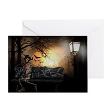 Funny Halloween pirate Greeting Card