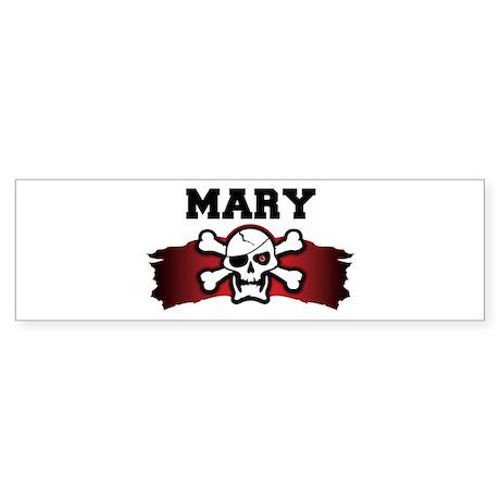 mary is a pirate Bumper Sticker