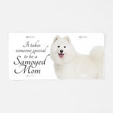 Samoyed Mom Aluminum License Plate