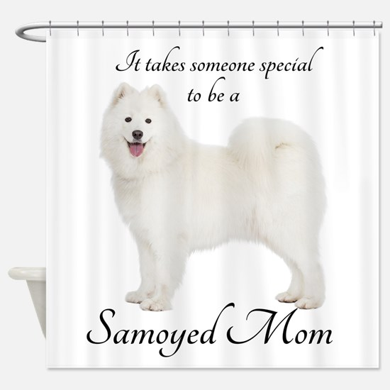 Samoyed Mom Shower Curtain