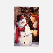 Santa Reading Note Area Rug