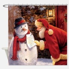 Santa Reading Note Shower Curtain