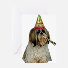 Shih Tzu Birthday Greeting Cards