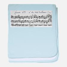 Bach's Brandenburg 6 Concerto baby blanket