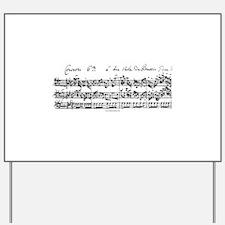 Bach's Brandenburg 6 Concerto Yard Sign