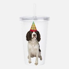 Springer Spaniel Birth Acrylic Double-wall Tumbler