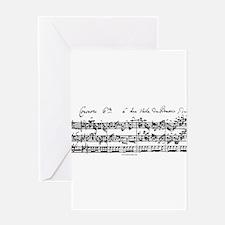 Bach's Brandenburg 6 Concerto Greeting Cards