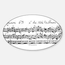 Bach's Brandenburg 6 Concerto Decal
