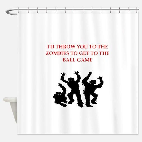 ball game Shower Curtain