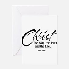 Christ the way the truth and the li Greeting Cards