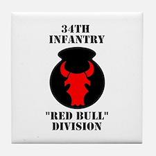 34th Infantry Division (4) Tile Coaster