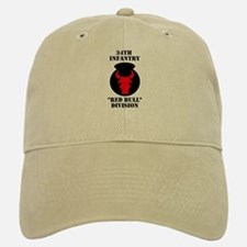 34th Infantry Division (4) Baseball Baseball Cap