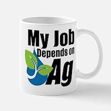 My Job Depends On Ag Logo Mugs