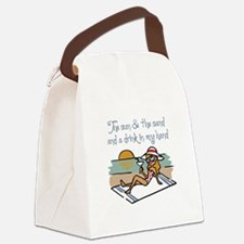 Drink In My Hand Canvas Lunch Bag
