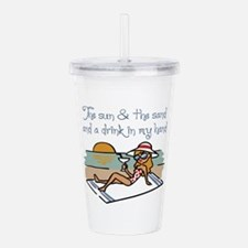 Drink In My Hand Acrylic Double-wall Tumbler
