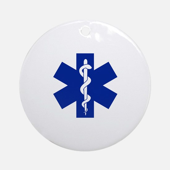 Star Of Life Round Ornament