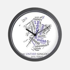 Scottish Independence Word Cloud Wall Clock