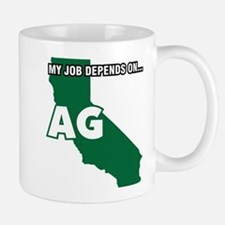 My Job Depends On Ag California Decal Mugs