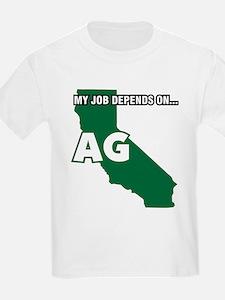 My Job Depends On Ag California Decal T-Shirt