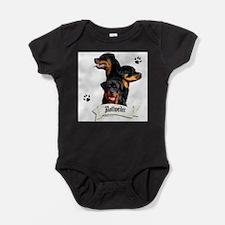 Funny Rottweiler Baby Bodysuit