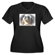 Cool Animals wildlife Women's Plus Size V-Neck Dark T-Shirt