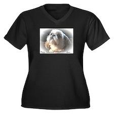 Unique Art and photography Women's Plus Size V-Neck Dark T-Shirt