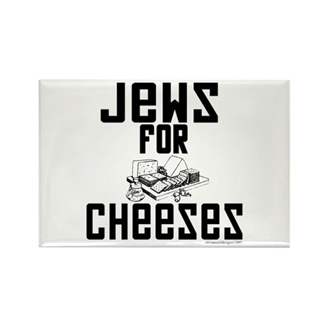 Jews for Cheeses Rectangle Magnet (10 pack)