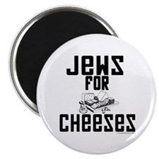 """Jews for Cheeses 2.25"""" Magnet (10 pack)"""