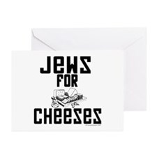 Jews for Cheeses Greeting Cards (Pk of 20)