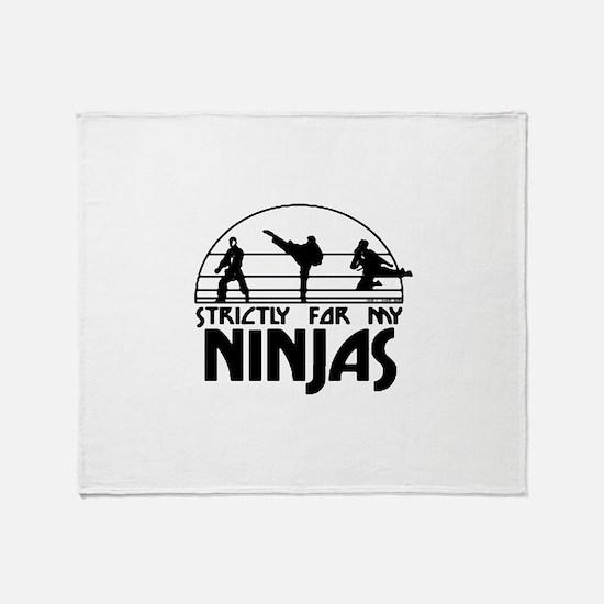 strictlyNinjas3.png Throw Blanket