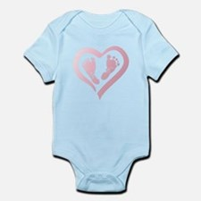 Baby Prints in Heart by LH Body Suit