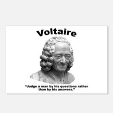 Voltaire Questions Postcards (Package of 8)