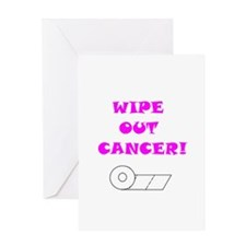 WIPE OUT CANCER Greeting Card