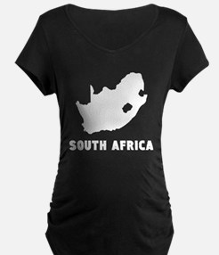 South Africa Silhouette Maternity T-Shirt