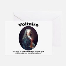 Voltaire Pray Greeting Card